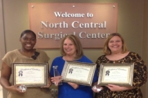 North Central Surgical Center Award Winners